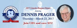 Lincoln Reagan Dinner with Dennis Prager @ Radisson Blu - Mall of America | Bloomington | Minnesota | United States